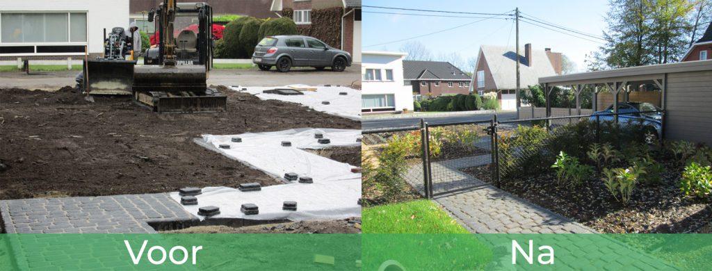 voor en na tuin